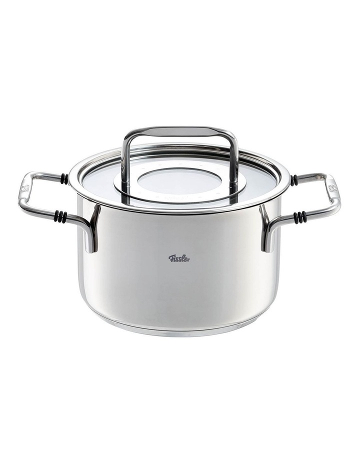 Bonn 16cm/2.1 ltr Stainless Stew Pot With Glass Lid image 1