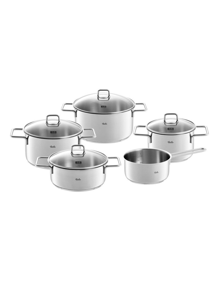 Munchen 5 Piece Stainless Steel Cookware Set With Glass Lids image 1