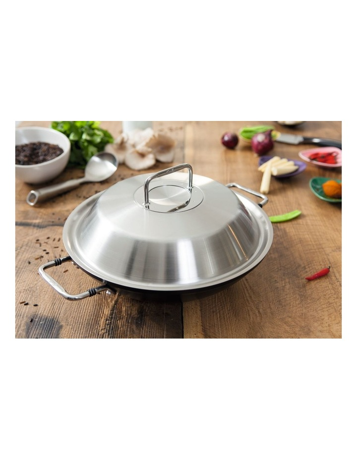 Adamant Non-Stick Wok 31cm/4.3L with Stainless Lid & Side Handles in Black image 2