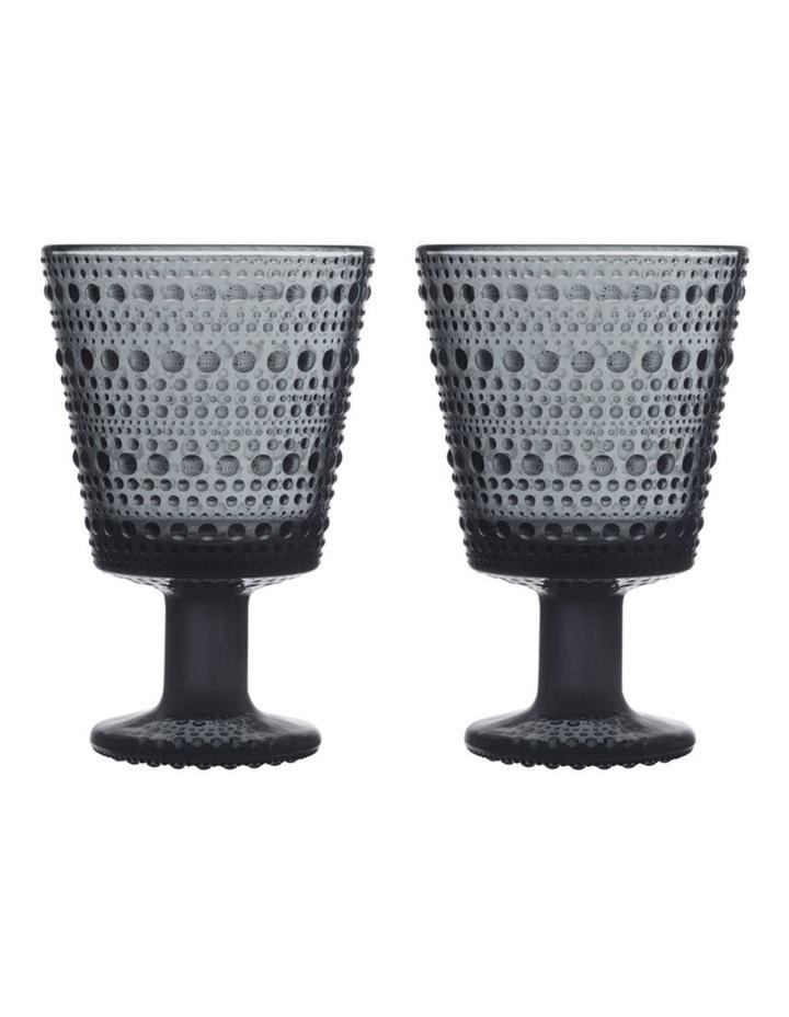 Kastehelmi Universal Glass Set of 2 Dark Grey image 1