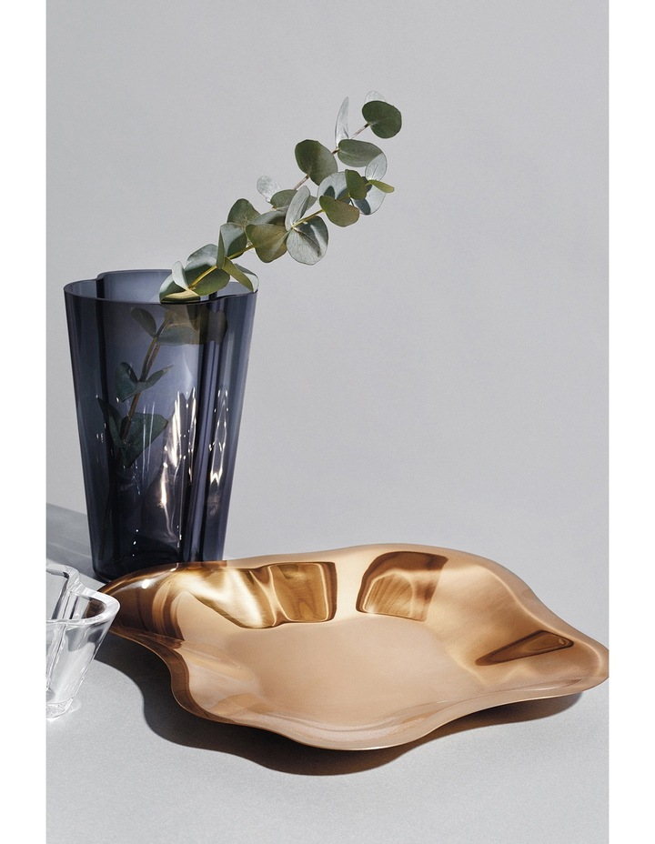 Alvar Aalto 26cm Metal Bowl in Rose Gold image 2