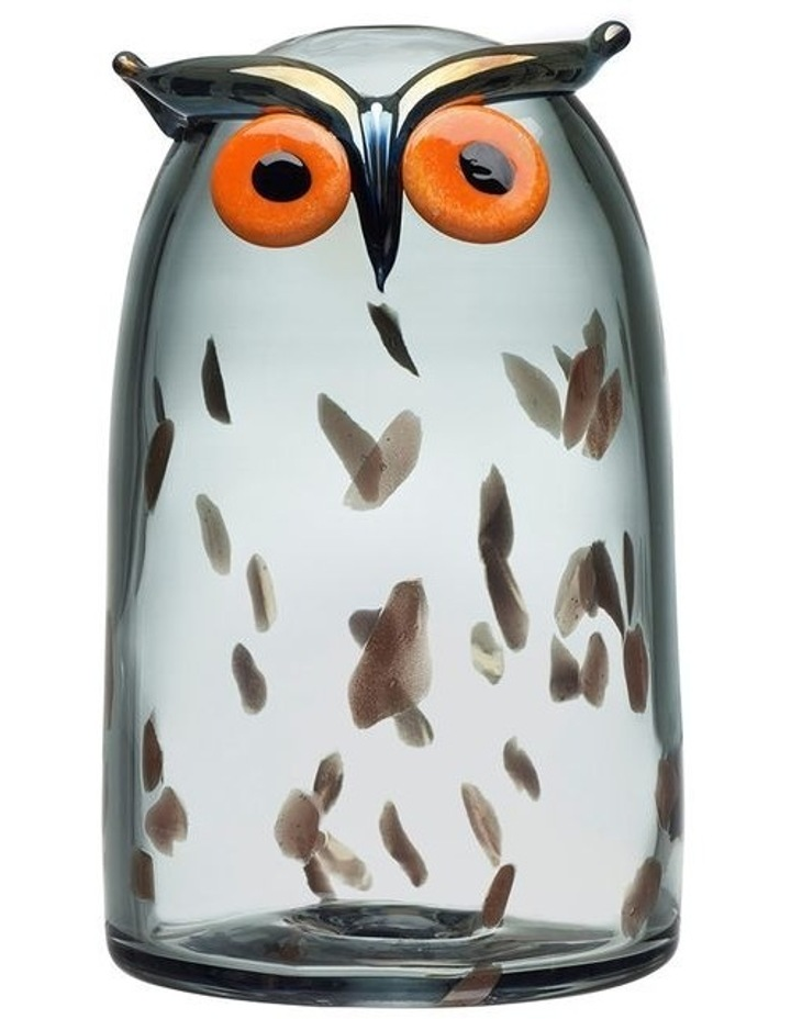 Birds By Toikka 17cm Long Earred Owl Crystal Art Glass image 1