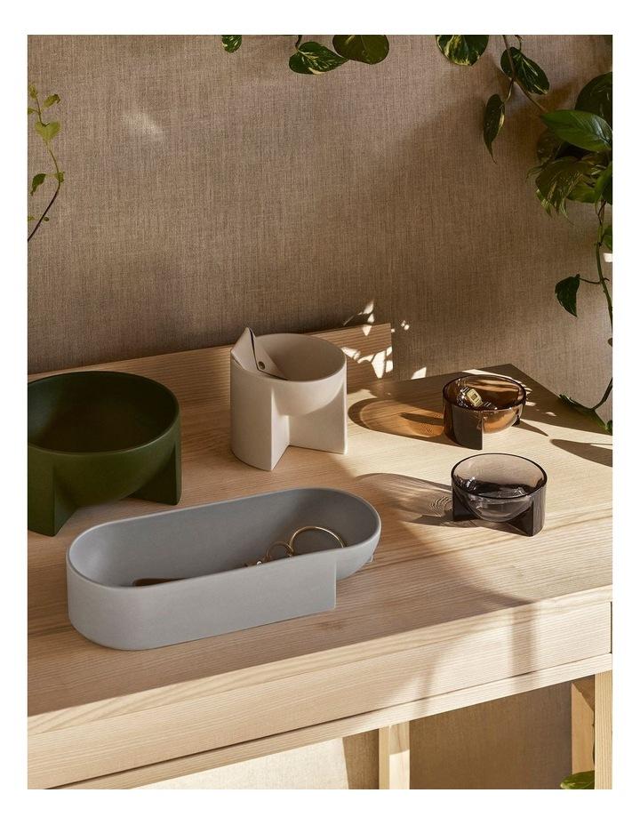 Kuru Ceramic Bowl 27 x 7.5cm Grey image 2