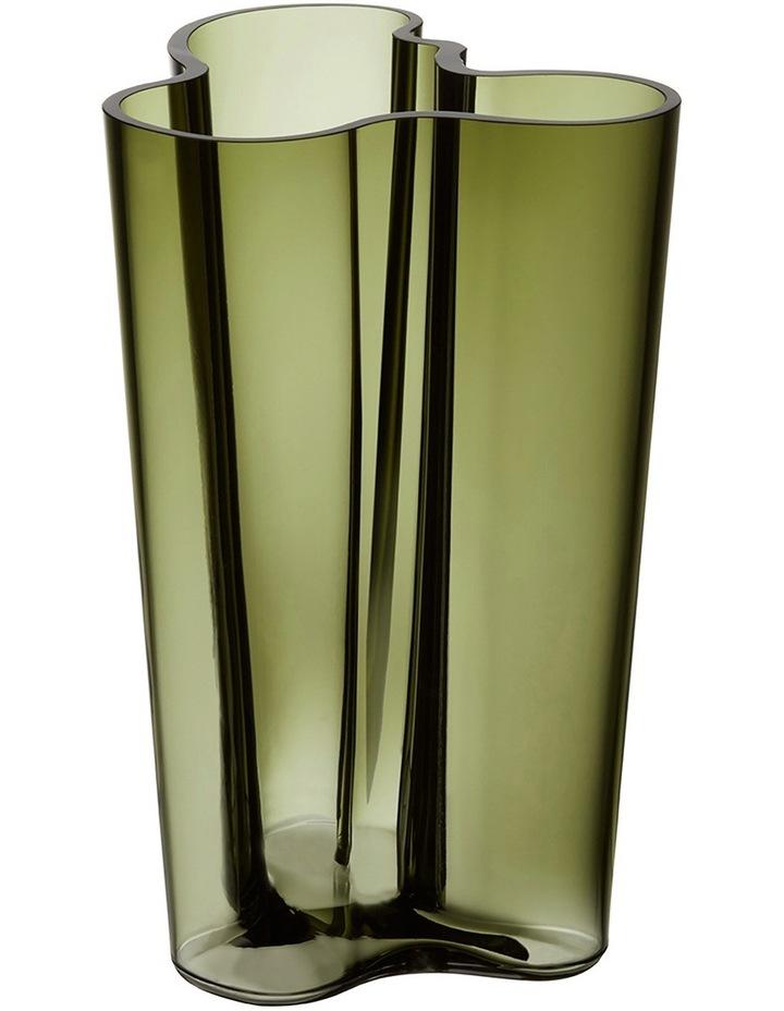 Alvar Aalto 22cm Glass Vase in Moss Green image 1