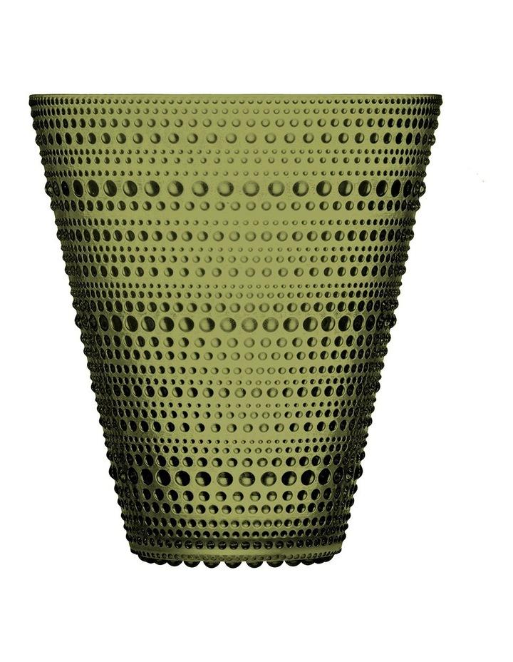 Kastehelmi 15cm Glass Vase in Moss Green image 1