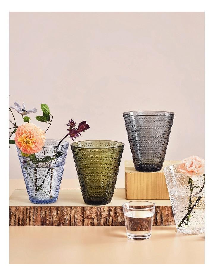 Kastehelmi 15cm Glass Vase in Moss Green image 2