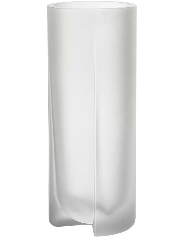 Kuru 25.5cm Frosted Glass Vase in Clear image 1