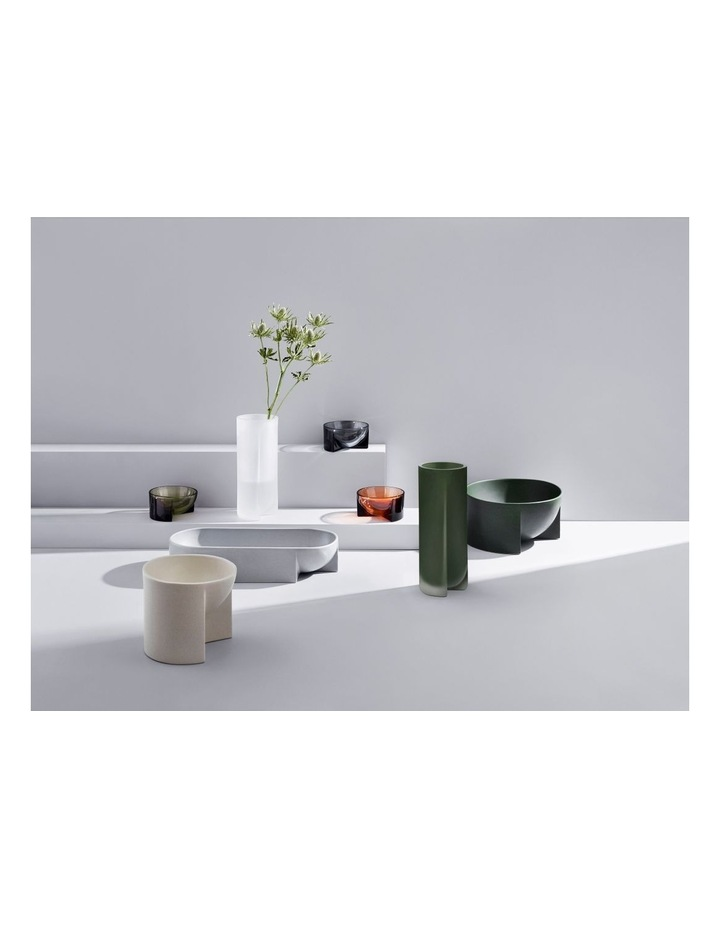 Kuru 25.5cm Frosted Glass Vase in Moss Green image 3