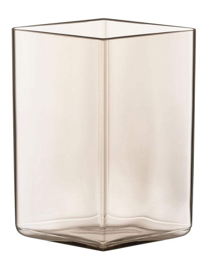Ruutu 14cm Glass Vase in Linen image 1