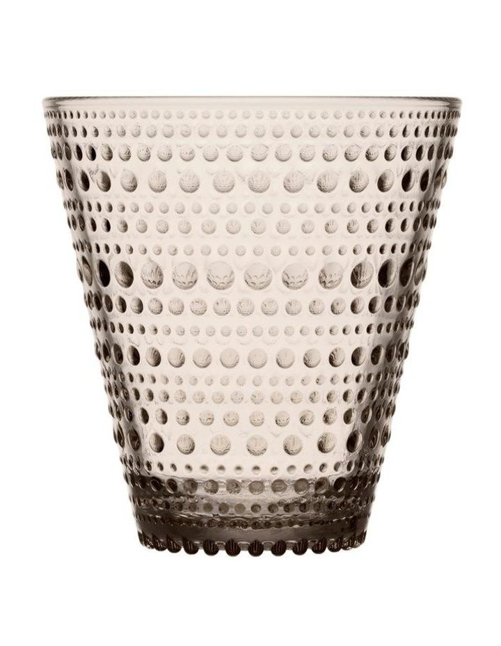 Kastehelmi 15cm Glass Vase in Linen image 1