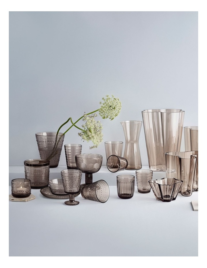 Kastehelmi 15cm Glass Vase in Linen image 2
