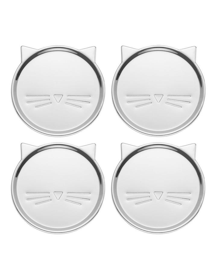 Silver Wit Cat Coaster (Set of 4) image 1