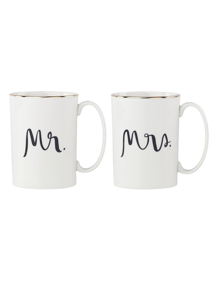 Bridal Party Mr & Mrs Mug Pair image 1