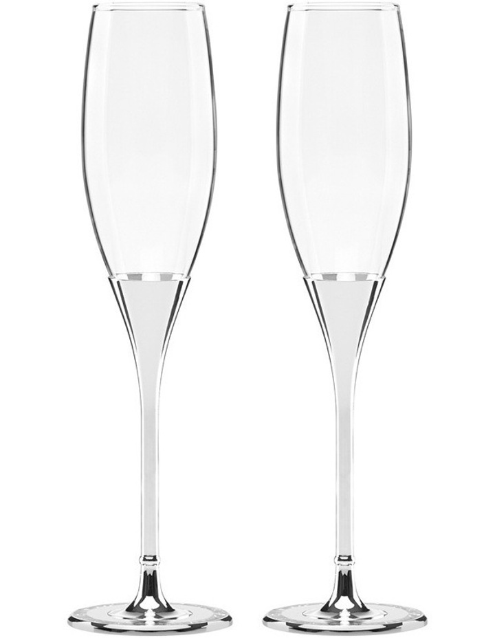 Simply Sparkling Flute Pair Silver image 1