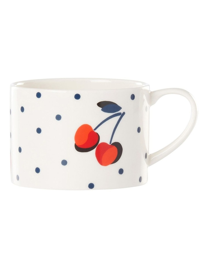 Vintage Cherry Dot Weekend Mug 380ml image 1