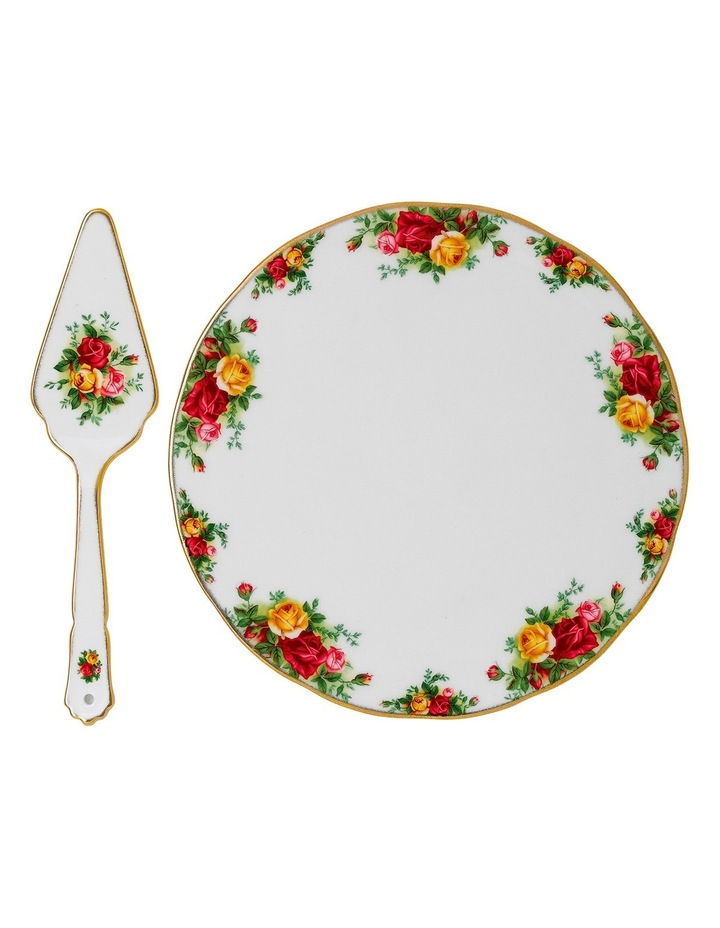 Old Country Roses Cake Plate & Server image 1