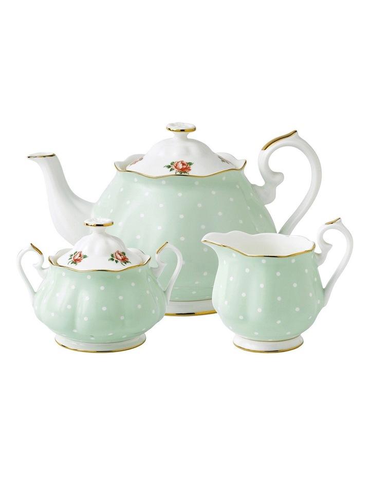 Polka Rose Teapot Sugar & Creamer Set image 1
