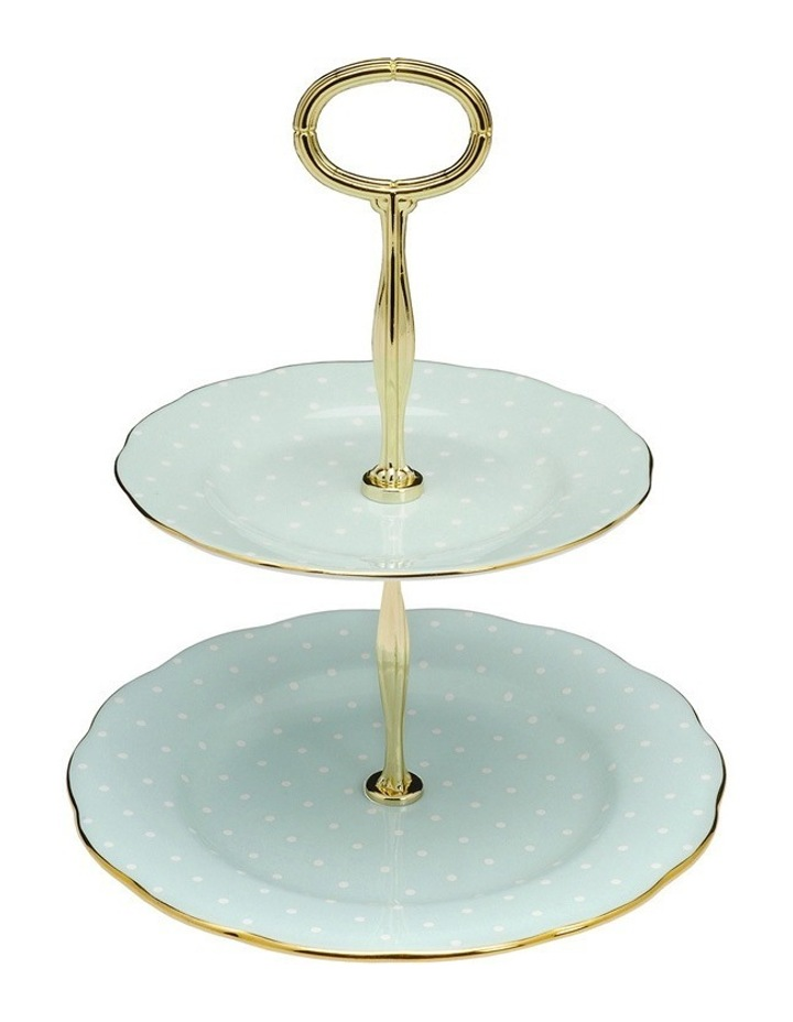 Polka Rose 2 Tier Cake Stand image 1