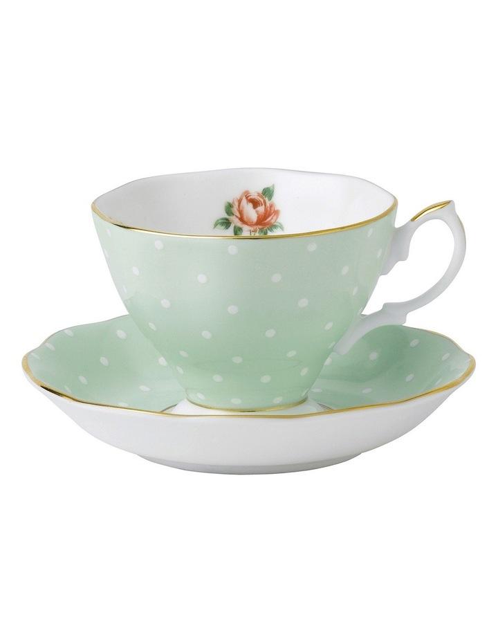 Polka Rose Teacup & Saucer image 1