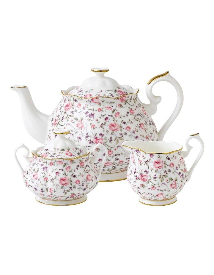 Rose Confetti Teapot Sugar & Creamer image 1