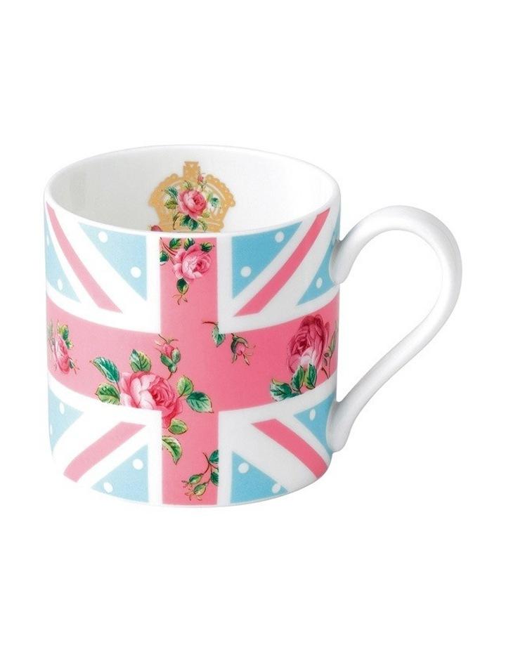 Cheeky Pink Modern Mug (Union Jack) image 1
