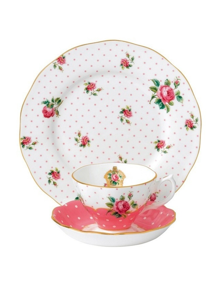 Cheeky Pink Teacup Saucer & Plate image 1