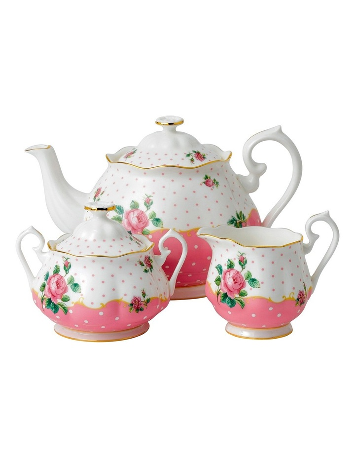 Cheeky Pink Teapot Sugar & Creamer image 1