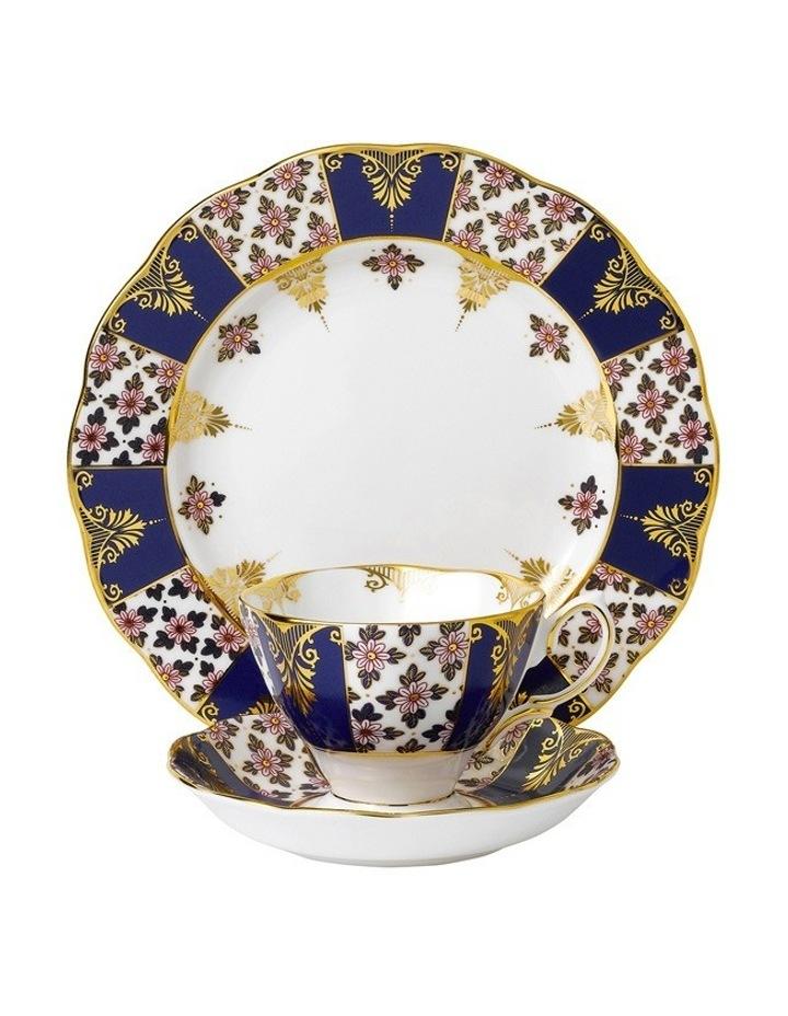 Regency Blue 1900 Teacup Saucer & Plate image 1