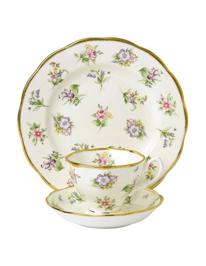 Spring Meadow 1920 Teacup Saucer & Plate image 1