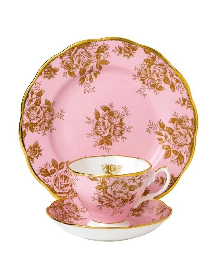 Golden Roses 1960 Teacup Saucer & Plate image 1