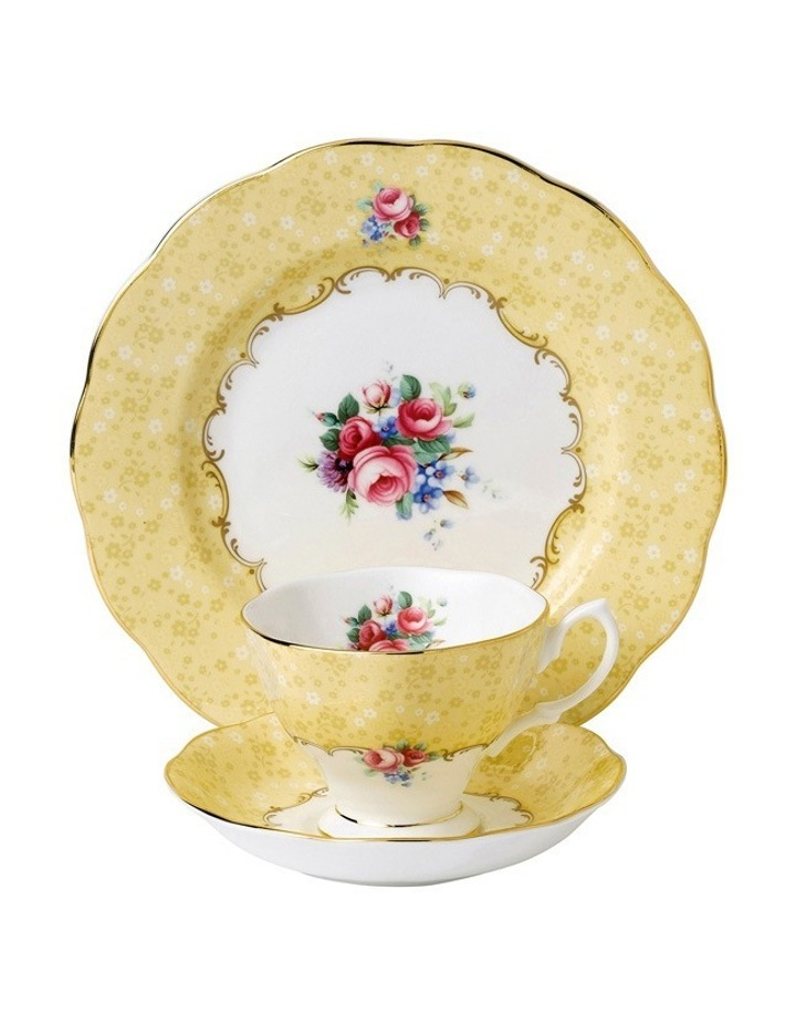 Bouquet 1990 Teacup Saucer & Plate image 1