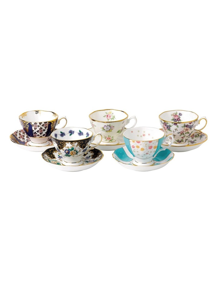 100 Years Teacups & Saucers 1900-40S Set image 1