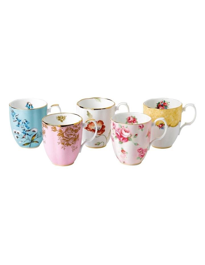100 Years Set Of 5 Mugs 1950-90S image 1