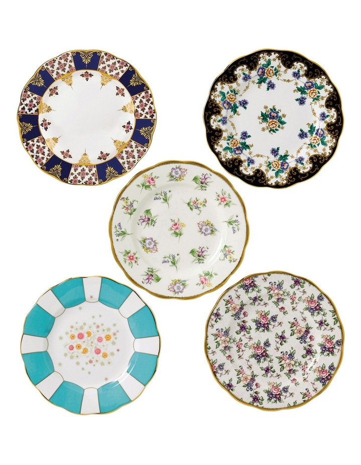 100 Years Set 5 Plates 20Cm 1900-40S image 1