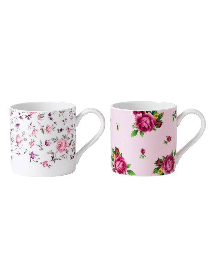 Mugs Rose Confetti & Pink Roses (Set of 2) image 1
