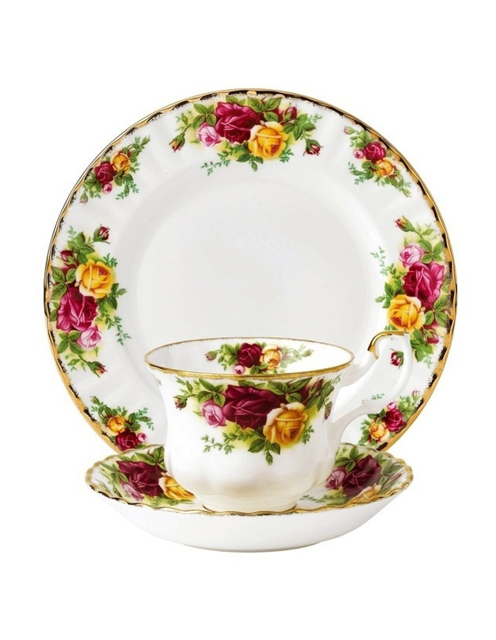 Old Country Roses Cup Saucer & Plate image 1