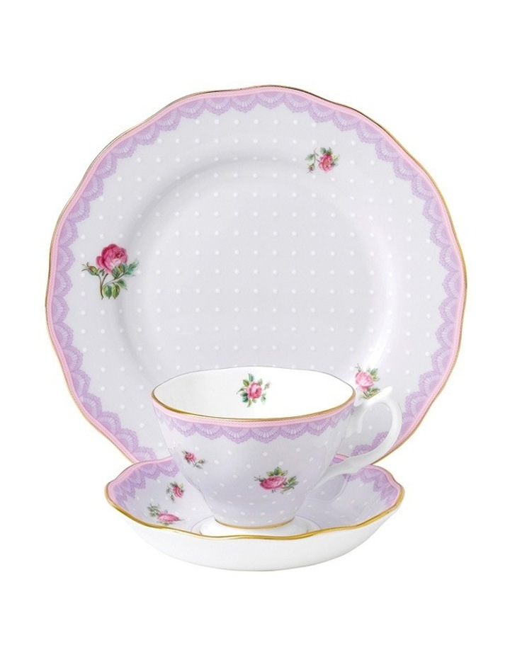 Candy Love Lilac Cup Saucer & Plate image 1
