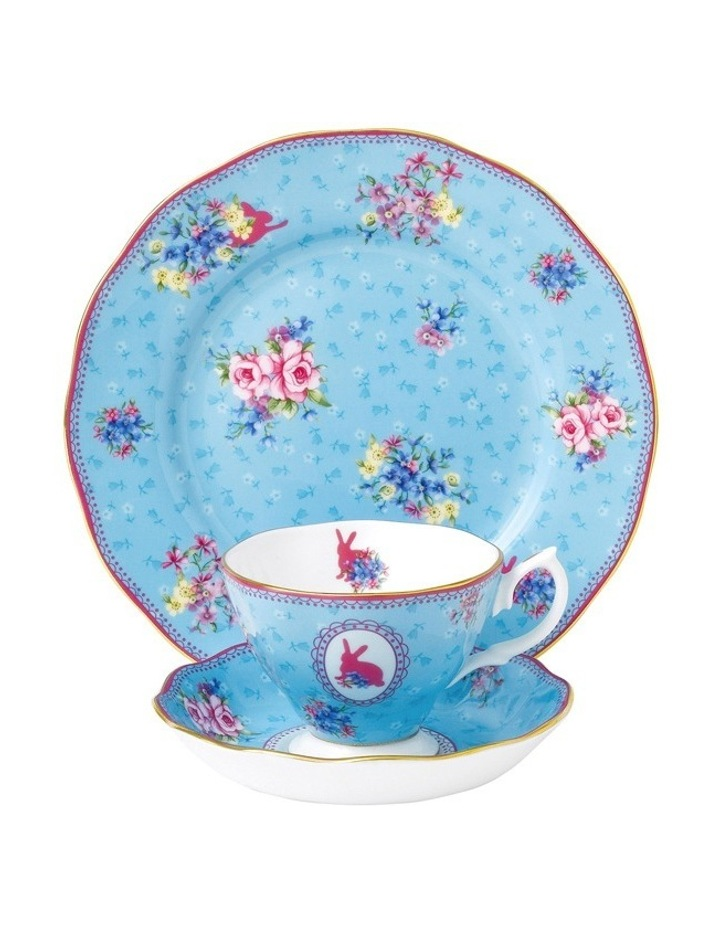 Candy Honey Bunny Cup Saucer & Plate image 1