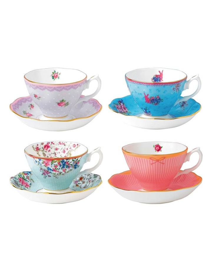 Candy Teacups & Saucers (Set of 4) image 1