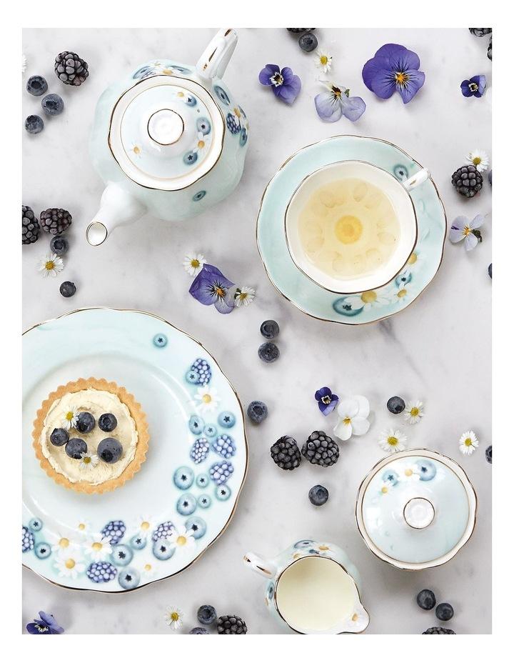 Alpha Foodie Blue Teacup, Saucer & Plate image 2