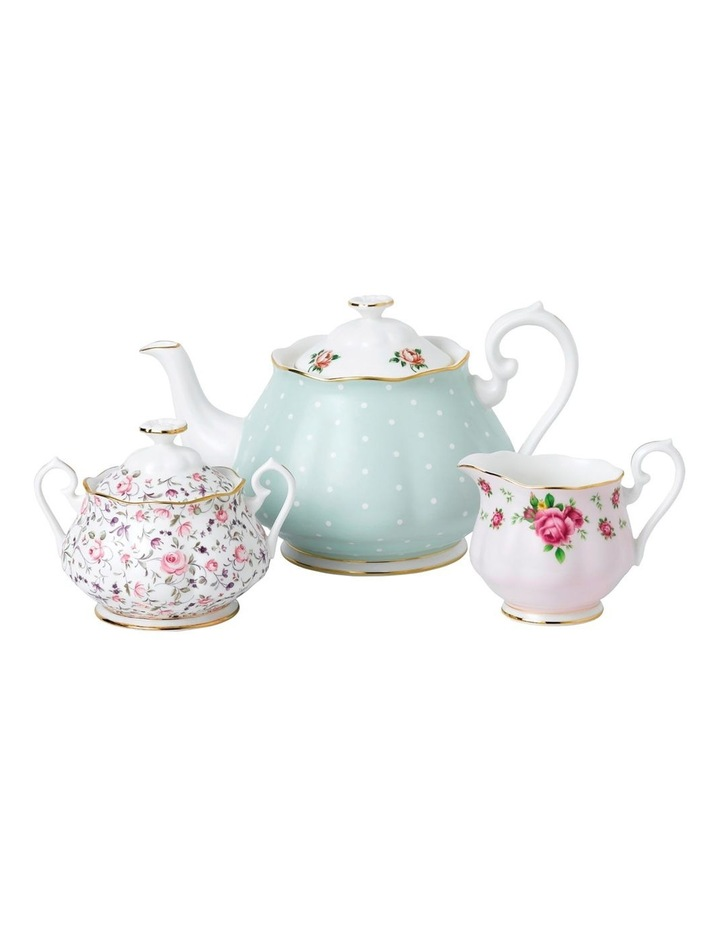 Modern Vintage Teapot, Cream and Sugar image 1