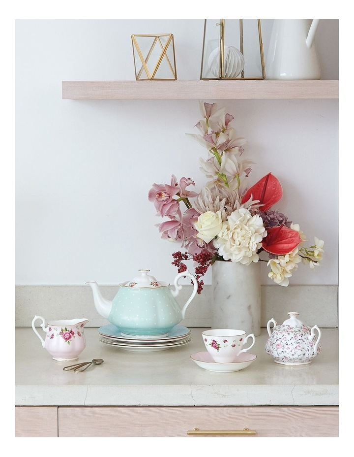 Modern Vintage Teapot, Cream and Sugar image 2