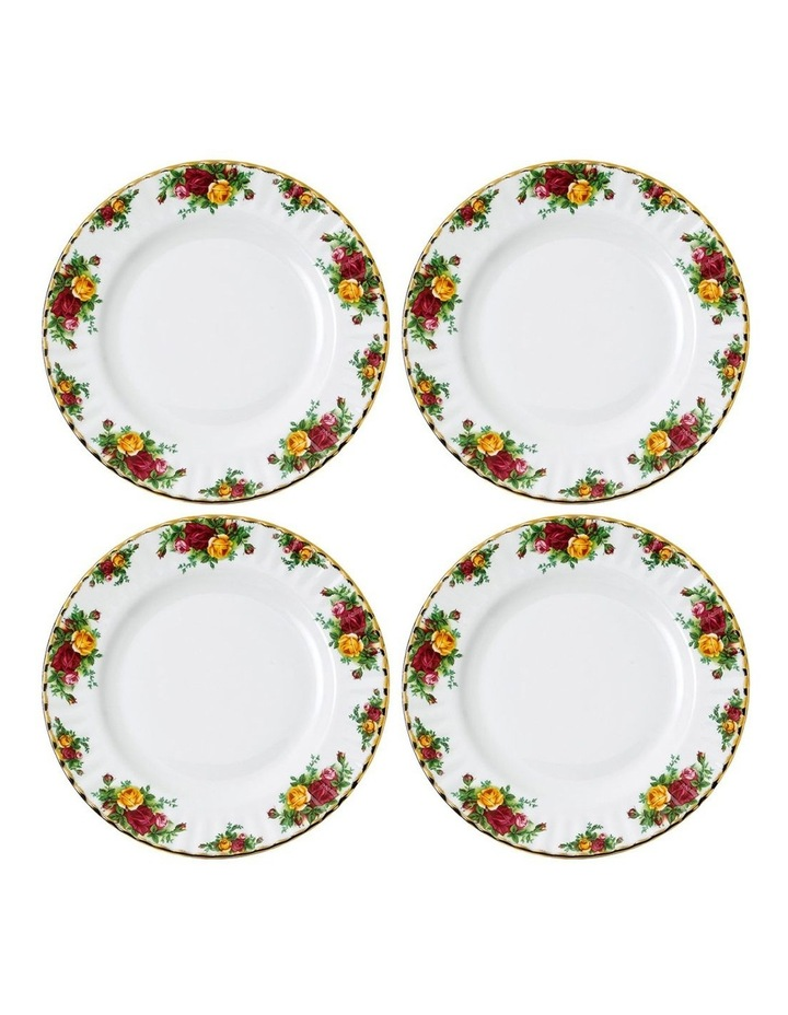 Old Country Roses Plate 27cm (Set of 4) image 1