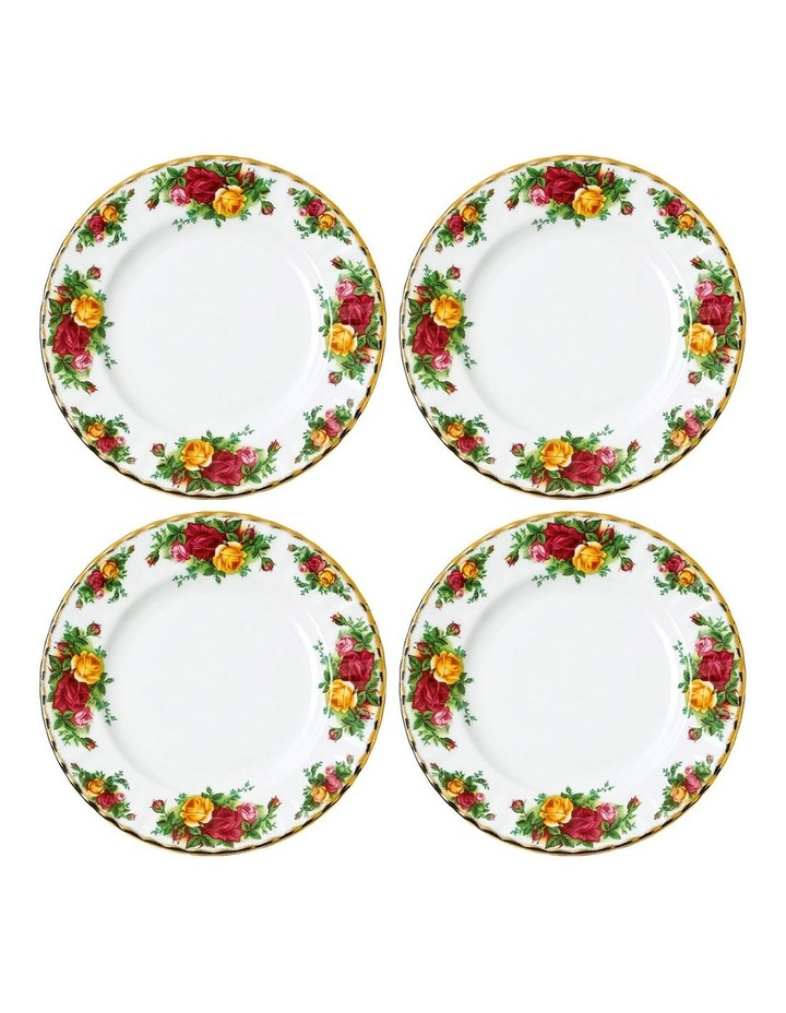 Old Country Roses Plate 20cm (Set of 4) image 1