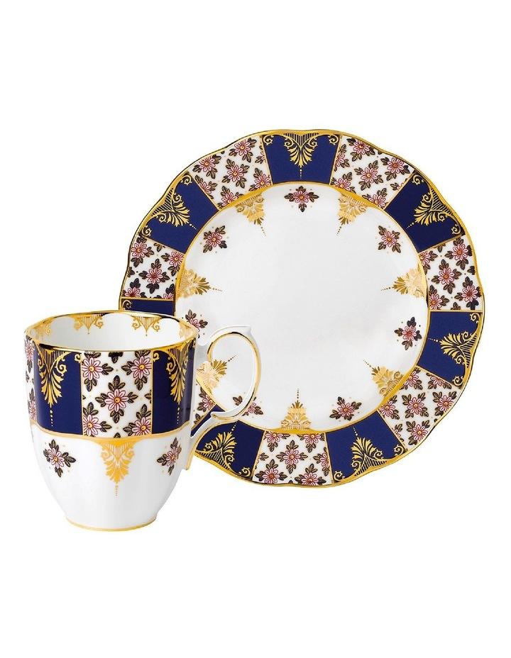 100 Years Regency Blue Mug & Plate 20cm image 1