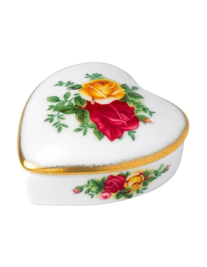 Old Country Roses Heart Box 6cm image 1