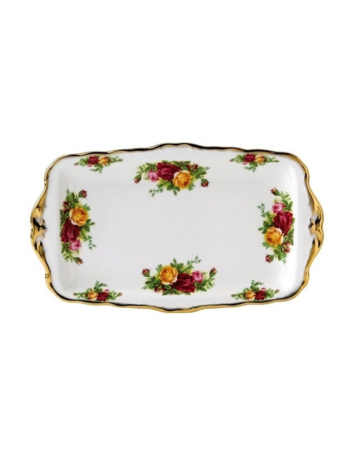 Old Country Roses Sandwich Tray image 1