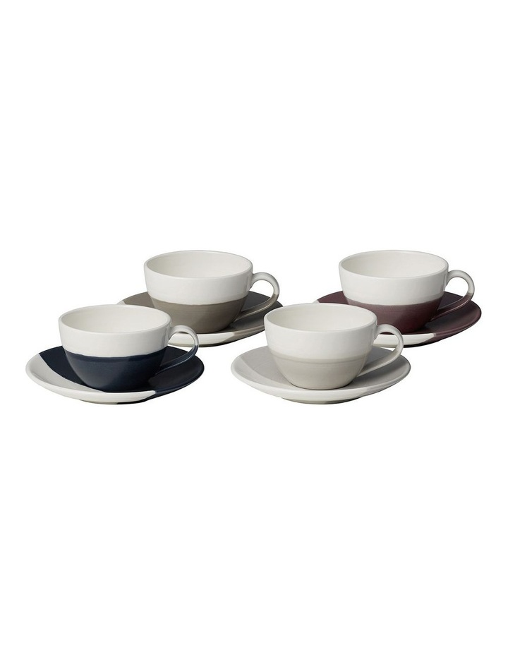 Coffee Studio Flat White Cup & Saucer (Set of 4) image 1