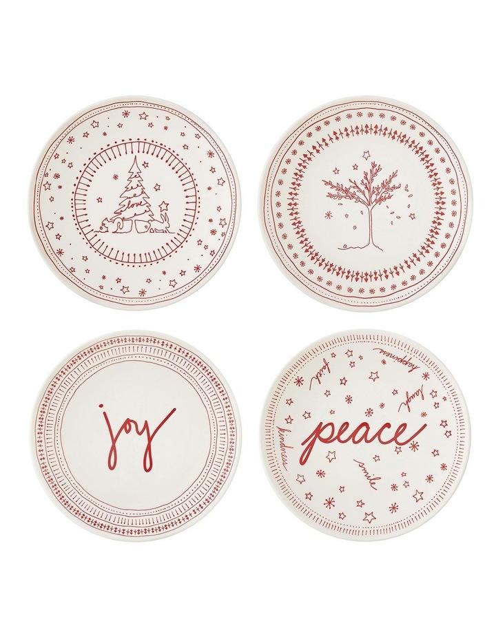 ED Christmas Plate 16cm set 4 image 1