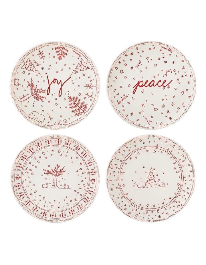 ED Christmas Plate 21cm set 4 image 1
